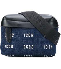 dsquared2 pochete com estampa de logo - azul
