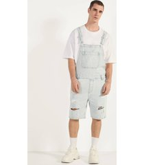 korte denim jumpsuit