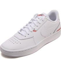 tenis lifestyle blanco-rojo nike w court blanc