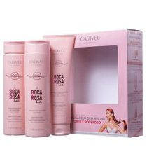 kit home care boca rosa cadiveu shampoo 250ml+condicionador 250ml+proteína 150ml