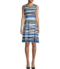 sleeveless striped crochet dress