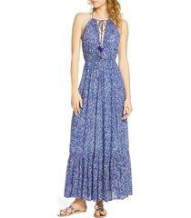 women's poupette st barth rachel cover-up maxi dress, size small - blue