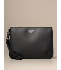 emporio armani briefcase emporio armani flat clutch bag in synthetic leather