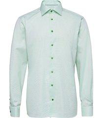 contemporary fit business signature twill shirt overhemd business groen eton