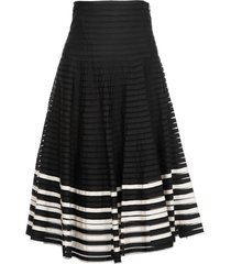 red valentino midi skirt in point desprit tulle