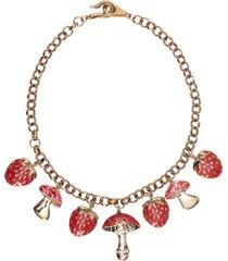 colar feminino natura - dourado