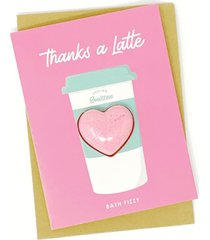 feeling smitten thanks a latte bath bomb card