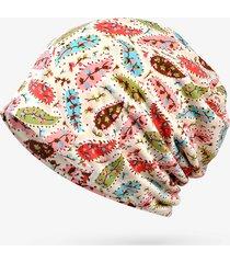 cappellino turbante di moda traspirante per il tempo libero, piccolo fiore modello in cotone