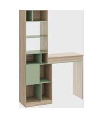 estante mesa baú multiuso aveiro/verde/verde be mobiliário