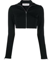1017 alyx 9sm zip-up cropped jacket - black