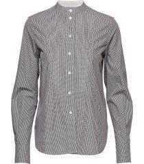 mini gingham pintuck shirt ls overhemd met lange mouwen grijs calvin klein