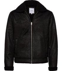 jjflight jacket läderjacka skinnjacka svart jack & j s