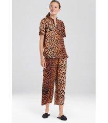 cheetah pajamas, women's, beige, size s, n natori