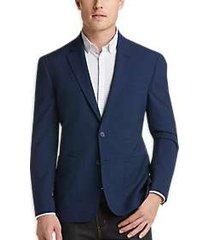 joe joseph abboud blue check slim fit casual coat