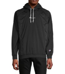 champion men's athletic pullover hoodie - black - size s