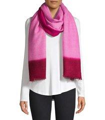 barja women's color block cashmere scarf - grey
