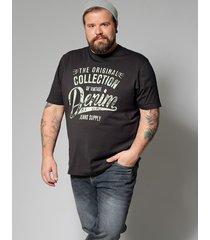 t-shirt men plus antracitgrå