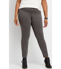 maurices plus size womens slate color jegging made with repreve gray