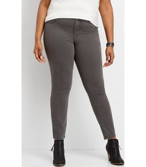 maurices plus size womens denimflex™ slate color jegging gray