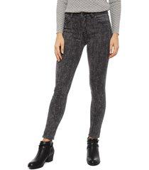 jeans tentation print pitillo gris - calce ajustado