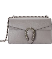 gucci small leather shoulder bag - grey
