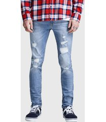 jeans jack & jones liam skinny azul - calce ajustado