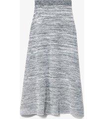 proenza schouler white label cotton silk pique knit skirt ecru/white m