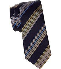 thick stripe silk tie