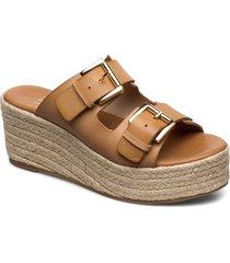 espadrilles 4340 sandalette med klack espadrilles brun billi bi