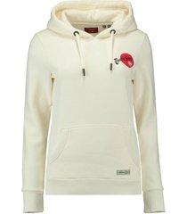 hoodie rising sun gebroken wit