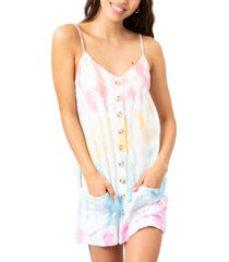 rip curl juniors' wipeout tie-dyed dress