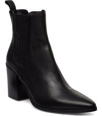classic western elastic shoes boots ankle boots ankle boots with heel svart apair