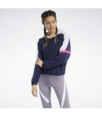 sweater reebok sport myt hoodie met korte rits