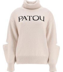patou logo intarsia sweater