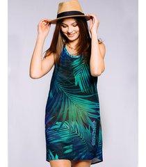 sukienka z kapturem colorfull tropic