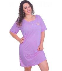 camisola  vip lingerie com bordado roxo - roxo - feminino - dafiti