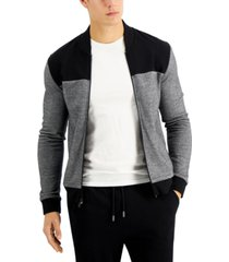alfani men's colorblocked track jacket, created for macy's