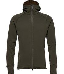 m's power houdi trueblack/trueblack s hoodie trui groen houdini