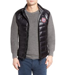 men's canada goose 'hybridge(tm) lite' slim fit packable quilted 800-fill down vest, size small - black