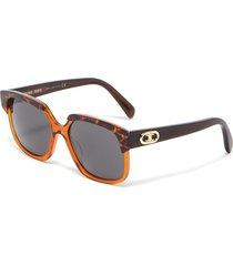'triomphe' square acetate frame sunglasses