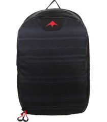 mochila negra montagne rayas acuarel