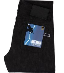 naked and famous weird guy dark knight selvedge jeans | black/grey | bat560603-32