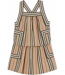 burberry multicolour cotton icon stripe playsuit