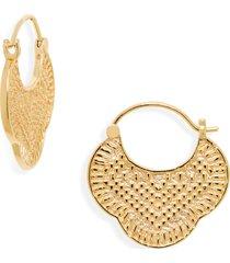 women's gorgana maya profile hoop earrings