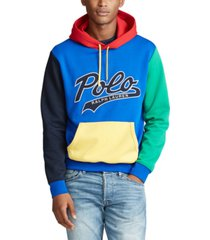 polo ralph lauren men's color-blocked logo hoodie