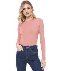 blusa lez a lez lisa rosa - rosa - feminino - viscose - dafiti