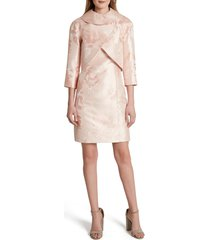 women's tahari floral jacquard sheath dress & jacket