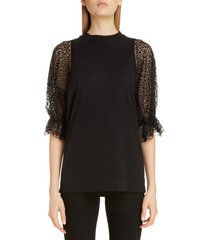 women's givenchy lace sleeve jersey tee