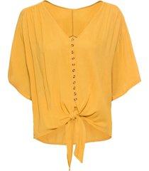 camicetta con nodo (giallo) - bodyflirt