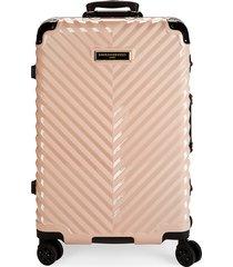 karl lagerfeld paris 26.75-inch spinner suitcase - blush